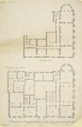 Plan of the ground floor of ye Rt. Honble Earl Spencer's